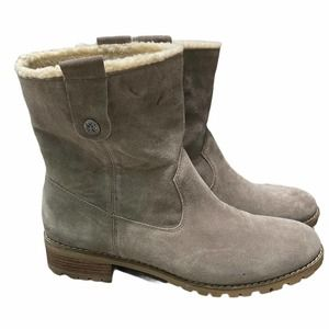 Bjorndal Aspen Suede Ankle Boot Pull On Taupe 11
